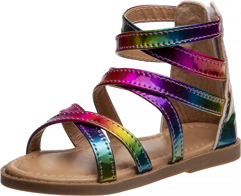 Petalia Max Elegant 74% OFF Toddler Girls' Sandals - Multi Strap Gladiator Glitter S
