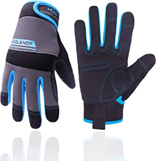 UltraLight Safety Work Gloves, Mens & Women Multi-Functional Work Gloves with Extensive Palm Protection, Mechanic Gardenin...