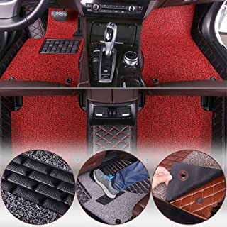 Muchkey car Floor Mats fit for Hyundai Solaris Ⅰ Sd/Hb 2014-2015 Full Coverage All Weather Protection Waterproof Non-Slip Leather Liner Set
