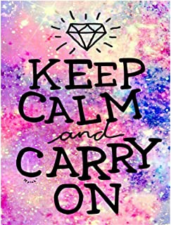 LIPHISFUN Diamond Painting Kits for Adults Full Drill Square Resin Rhinestone Embroidery Unfinished Cross Stitch Home Decor Gift,Keep Calm and Carry on