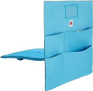 Comfy Bum Chair Bag, Cushioned Chair Pockets, chairback seat Sack for Classroom Chairs, Back to School Organizer, Students, Kids, Teachers, School, Kindergarten, Homework, Dorm, Storage (Blue, Small)