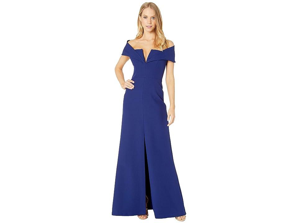 BCBGMAXAZRIA Amalie Off the Shoulder Dress (Orient Blue) Women