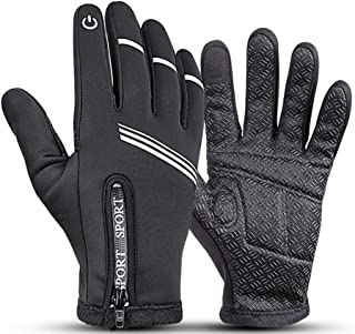 Maison-Market Thermal Touchscreen Windproof Gloves Winter Sport Warm Waterproof Gloves for Outdoor Activities, Running, Cycling, Driving, Skiing for Men Women Universal Style