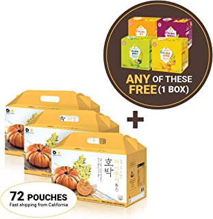 InnerSet Honeybush Pumpkin Nutricosmetic Beauty Drink - 100 ml x 72 pouches - Fermented Extract, Skincare Patented Formulation/Made in Korea/Ships from US California