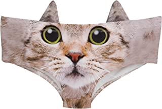 Womens' 3D Animal Print Cute Briefs with Ears