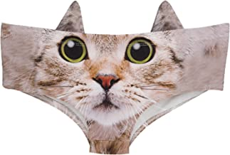 Ababalaya Womens' 3D Animal Print Cute Briefs with Ears