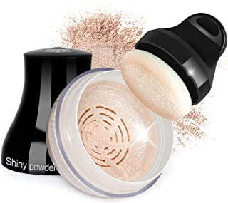 Proteove Loose Powder - Shimmery Loose Powder for Face and Body Highlighter Makeup, Handle Powder Puff Design, Lightweight & Glowing, Translucent