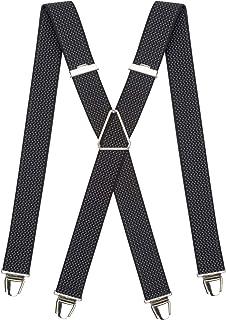 PIERROT Bretelles Homme Larges et Vintage - Made in France - Taille Ajustable Jusqu'à 130cm - Garantie à Vie - 100% FRANÇAIS