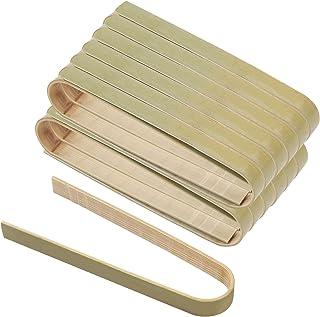 "Hileyu 60 Stuks Bamboe Voedsel Tang voor Koken 4 ""Mini Broodrooster Tang Kleine Natuurlijke Bamboe Keuken Broodrooster Tan..."