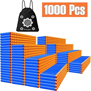 POKONBOY Compatible with Nerf Bullets - 1000 Dart Refill Pack Ammo Bulk Bullets Pack Compatible with Nerf N-Strike Elite Guns with Storage Bags