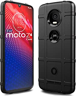 Sucnakp Moto Z4 Case,Moto Z4 Play Case,Moto z4 Force Case Heavy Duty Shock Absorption Phone Cases Impact Resistant Protective Cover for Motorola Z4 Case(New Black)