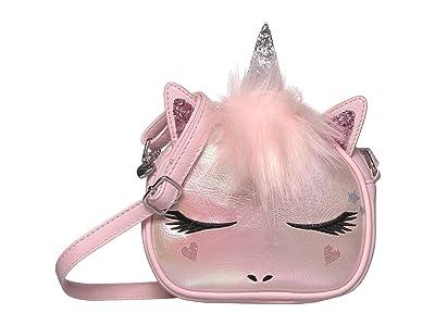 OMG! Accessories Metallic Unicorn Crossbody (Pink) Handbags
