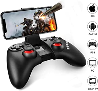 Mobile Game Controller, Gintenco Wireless Game Controller for iPhone/Android/Win 7/8/10 Systems/TV Box/PS3, Rechargeable Bluetooth Game Pad Joystick Controller & Remote Gamepad