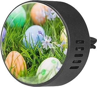 2pcs diffuseur d'aromathérapie diffuseur d'huile essentielle de voiture Clip d'aération oeufs de Pâques sur un pré