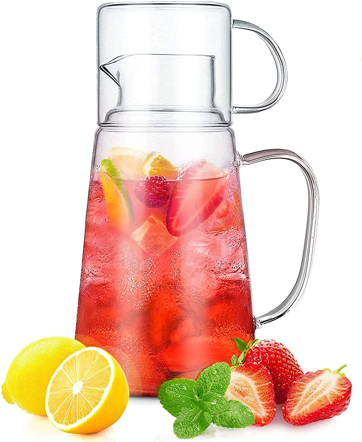 Raleigh Mall Heat-Resistant Glass Water Carafe Set Pitcher hot Limited time cheap sale jug Tea