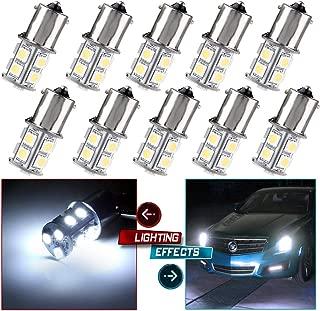 cciyu 1156 BA15S 1141 1003 13-SMD 5050 LED Light bulbs Turn Signal Backup Reverse 12V, 10 Pack