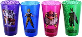 Dragon Ball Super Pint Glasses featuring Toy Majin Buu, Cell, Frieza and Super Saiyan Goku