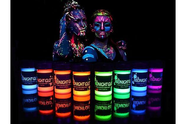 UV Neon Face   Body Paint Glow - Top Rated Blacklight Reactive Fluorescent  Paint - Safe 0b549c22e5