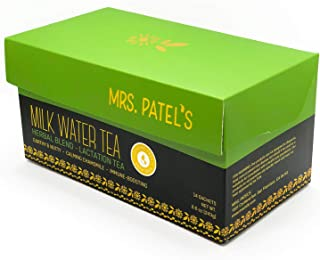Mrs. Patel's Lactation Tea, Herbal Blend, Mild & Soothing, For Breastfeeding and Pumping Moms, Drink Iced or Hot, Caffeine...