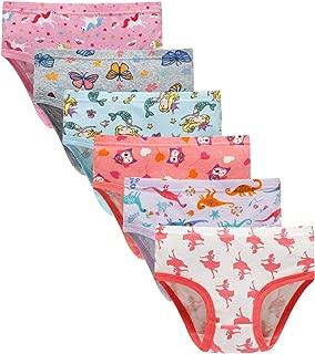 Baby Soft Cotton Underwear Little Girls'Briefs Toddler Undies (Pack of 6)