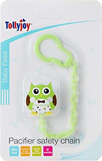 Tollyjoy Baby Pacifier Chain, Owl, Green ,24g