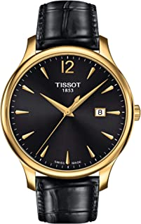 Tissot Men's Black Leather Band Watch - T063.610.36.057.00