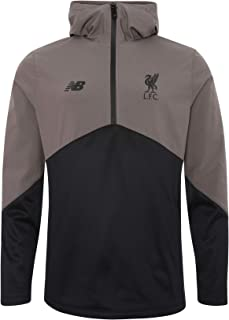 Liverpool FC Grey Long Sleeve Adults Soccer NB Street Training Vector Speed Top LFC Official