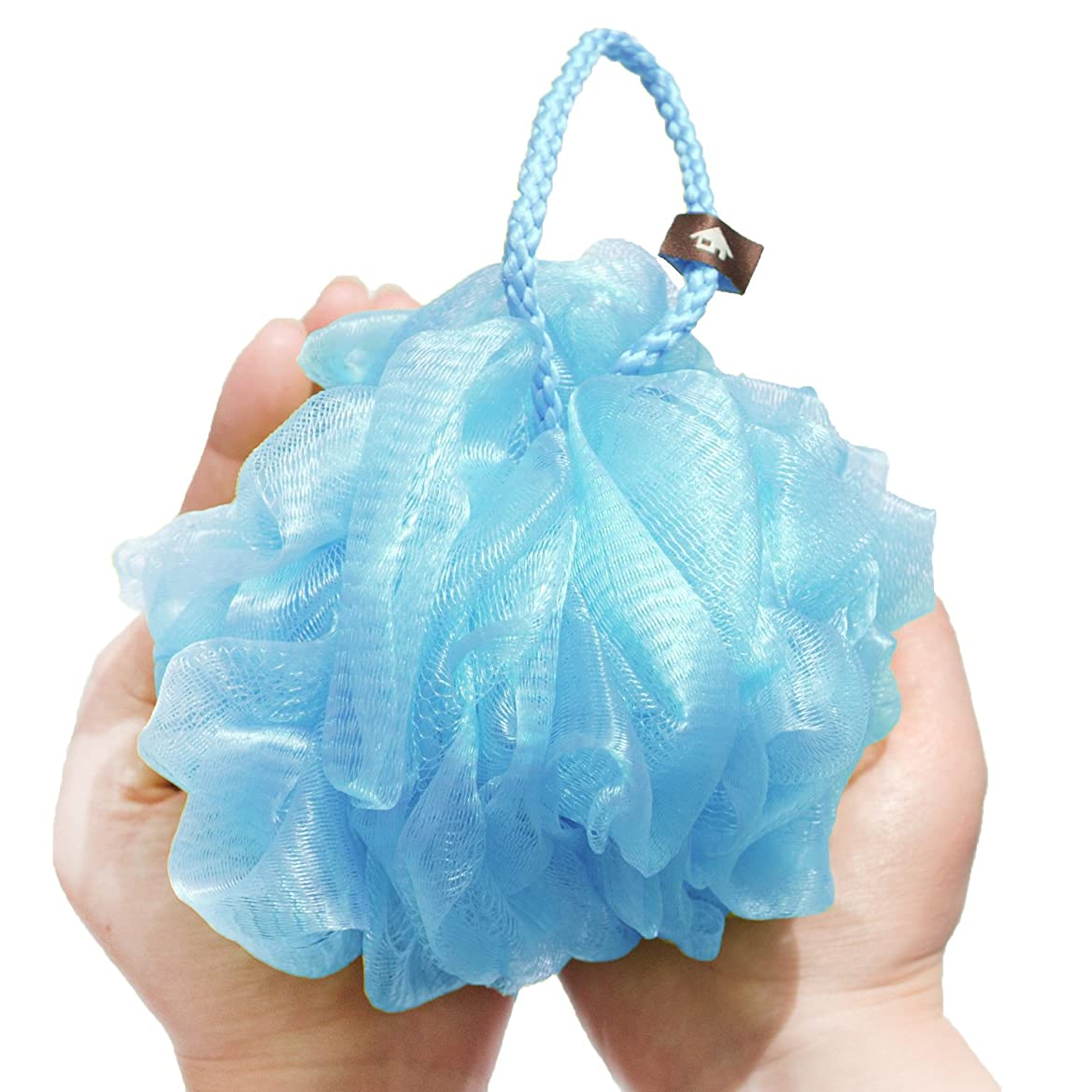 純粋にフェミニン市の花オカ 泡立てネット ライトブルー Lサイズ PLYS(プリス)シルキーウォッシュ