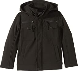 Karl Softshell Officers Jacket w/ Zip Off Hood (Little Kids/Big Kids)