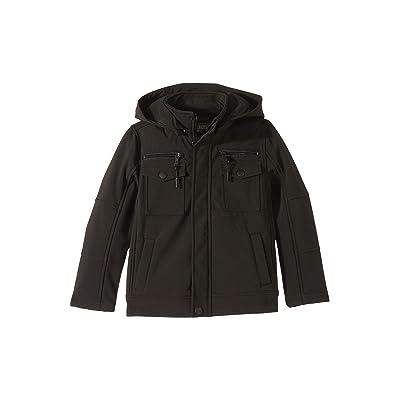 Urban Republic Kids Karl Softshell Officers Jacket w/ Zip Off Hood (Little Kids/Big Kids) (Black) Boy