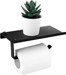 PREUP Porte Papier Toilette, Support Papier Rouleau Acier INOX SUS 304, Colle Auto-adhésive et Mural pour Salle de Bain WC...