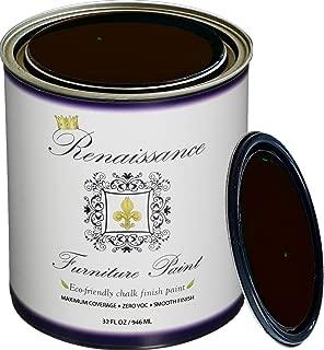 Retique It Chalk Finish Paint by Renaissance - Non Toxic, Eco-Friendly Chalk Furniture & Cabinet Paint - 32 oz (Quart), Arabian Coffee