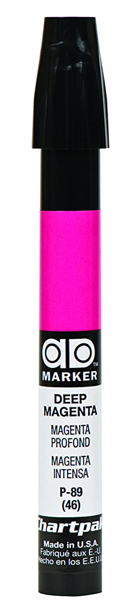 The Original Chartpak AD Marker, Tri-Nib, Deep Magenta, 1 Each (P89)