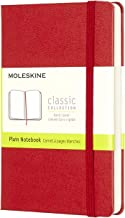 """Moleskine Classic Notebook, Hard Cover, Pocket (3.5"""" x 5.5"""") Plain/Blank, Scarlet Red, 192 Pages"""