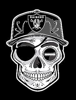 Oakland Raiders Sugar Skull Dia De Los Muertos Sticker 6