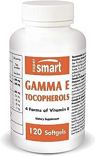 Sponsored Ad - Supersmart - Gamma E Tocopherol - 4 Form of Vitamin E Including d-Alpha, d-Delta & d-Beta Tocopherols - Ant...