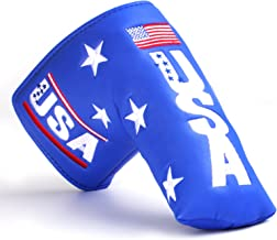 Golf USA Embroidery Blue Golf Blade putter Headcover