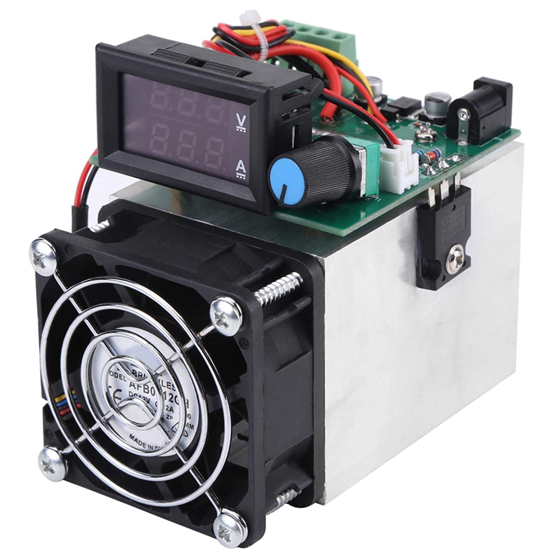 Probador de capacidad de batería, carga electrónica 0-10A 100W DC 12V Módulo de prueba de medidor de prueba de energía de descarga