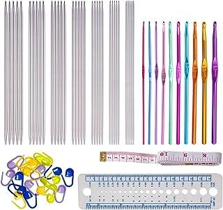 67 pcs Aiguille Double Pointe Aiguille Crochet Set Ensemble d'Aiguilles à Tricoter Aiguilles à Tricoter Double pointe en A...