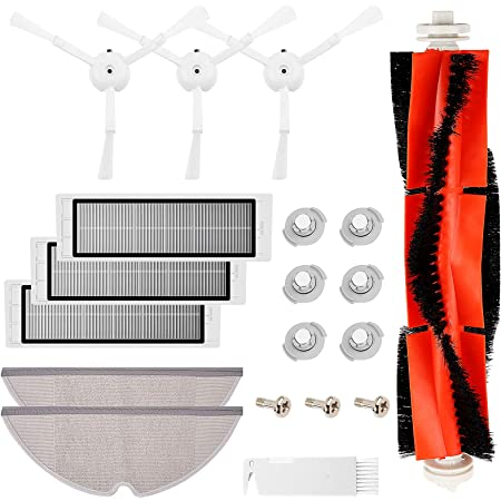 Kit De Repuestos Compatible con Xiaomi Mi Robot Roborock S50/S51/S55 S6,1*Cepillo Principal 3*Cepillo Lateral 3*Filtros Hepa 6*NúCleo De Filtro 2*Trapos Para Limpiar 1*Ayutante de Limpieza3*Tornillo