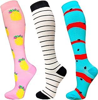 Compression Socks For Men Women 15-20mmHg 3/8 Pack Performance Socks for Running Medical Athletic Travel Pregnancy Nurses
