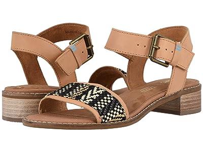 TOMS Camilia (Honey Leather/Geometirc Woven) Women