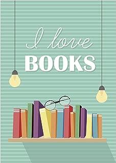 AMStudio 8x10 A02 I Love Books Poster.Education Poster. Nursery Wall Art.Kids Room Decor.