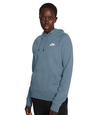 Nike NSW Essential Hoodie Pullover Fleece (Cerulean/Heather/White) Women