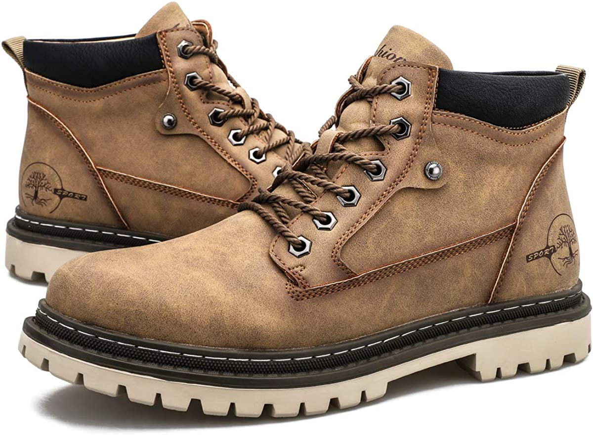 Dacomfy Mens Snow Boots SEAL limited product Winter Leather Ankle Regular dealer Casual Shoes Combat