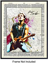 Bruce Springsteen Dictionary Art Print - Vintage Upcycled Wall Art Poster - Gift for Musicians, E Street Band and 80's Music Fans - Unique Rustic Home Decor for Den, Man Cave, 8x10 Photo Unframed