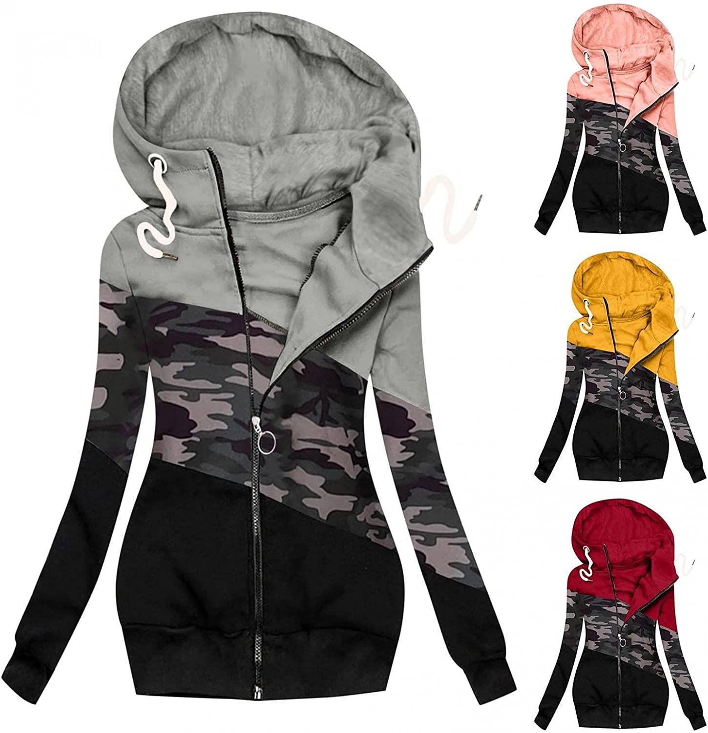 Women Quilted Jacket Casual Lightweight Faux Fur Lapel Zip Up Outerwear Quilted Parka Jacket Coat Bomber Jacket
