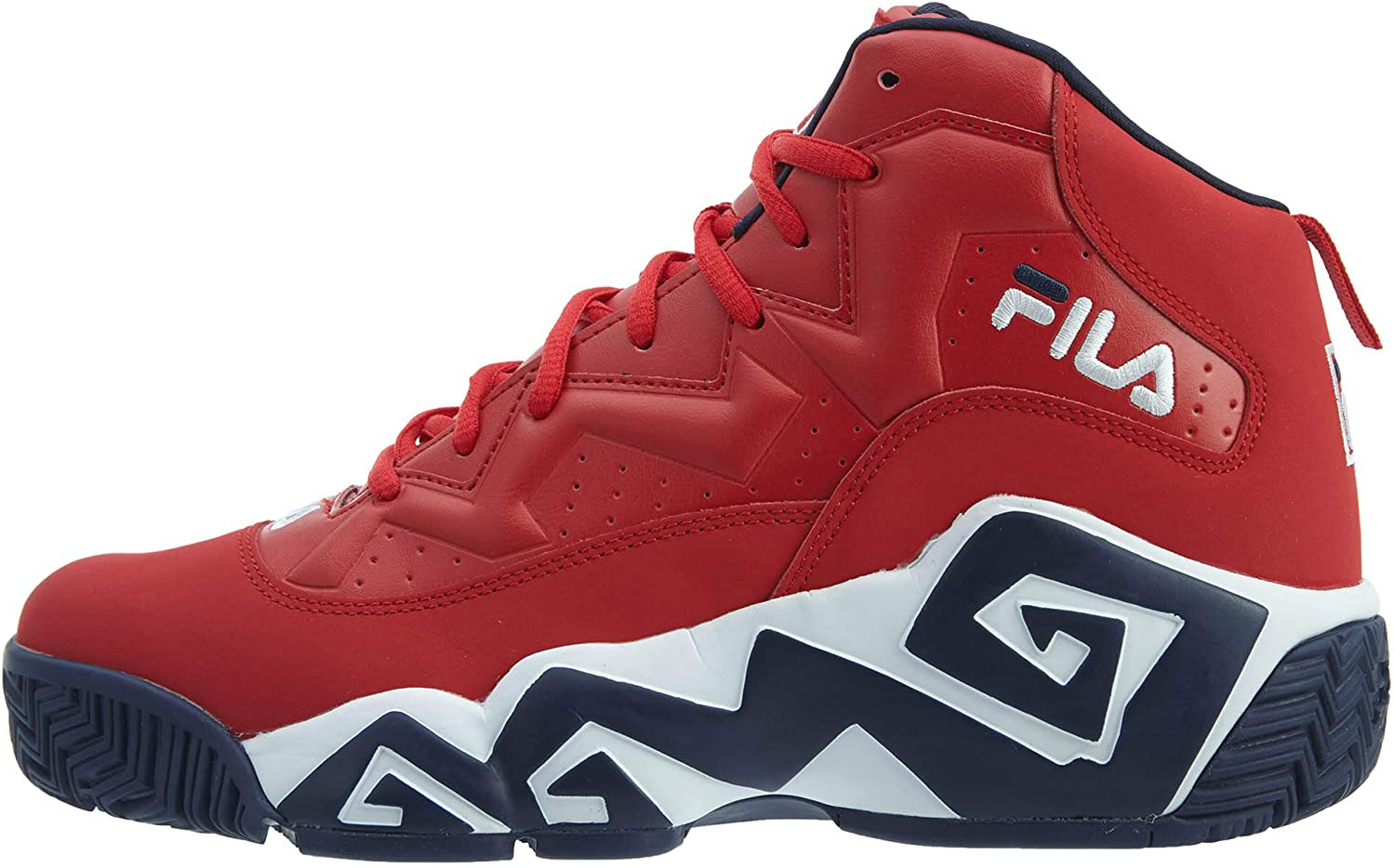 Fila Men's MB Leather Retro High-Top Basketball Trainers shoes Sneakers