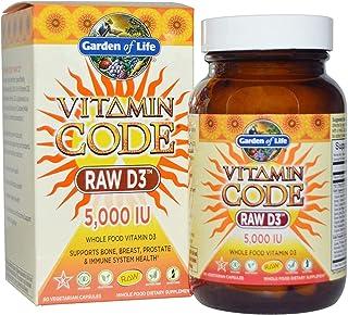 Garden of Life, Vitamin Code, RAW D3, 5,000 IU, 60 Vegetarian Capsules