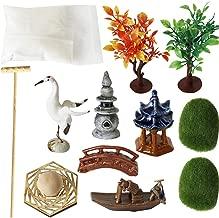 Zen Garden Accessories Tools Kits - Miniatures Sandbox Mini Rake Stamp Decorations Office Tabletop Sand Garden Rocks Plants Fairy Garden Figurines Bridge Birds